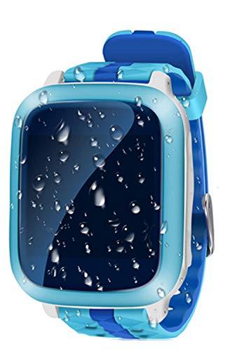 Intelligente Uhr, GPS WiFi Tracker SOS Anruf Smartwatch, Wasserdichte GSM Touchscreen Kinder Smart Watch für IOS und Android (Pink)