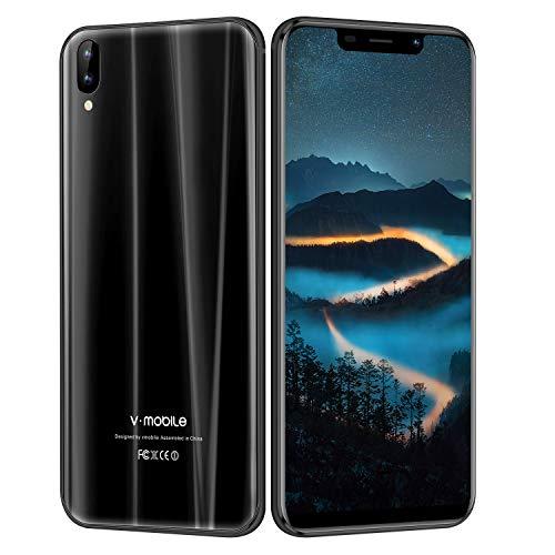 V Mobile A2 Lite Smartphone de 5.84' RAM de 3 GB/32 GB de ROM,Batería de 3800mAh,Pantalla Completa 19:9 1512x720 Pixeles,Cámara de 13 MP,Dual Sim,Android 7.0 3G+ Teléfono Móvil,Negro (EU Versión)