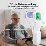 Fieberthermometer Stirnthermometer CocoBear Fieberthermometer für Babys, Kinder und Erwachsene 3 IN 1 Infrarot Thermometer Professionell für Körper, Oberfläche und Raum CE und FDA Zertifiziert Test