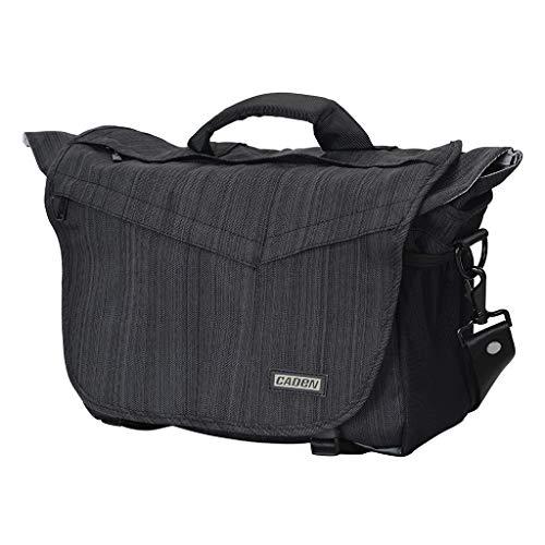 Altsommer DSLR/SLR Kamera Schulter Messenger Bag mit Kamera Insert Sleeve Regenschutz wasserdicht, kompatibel für Canon Nikon Sony Mirrorless Kameras, 14-Zoll-Laptop DJI Mavic Drone Black Sony 14-laptops