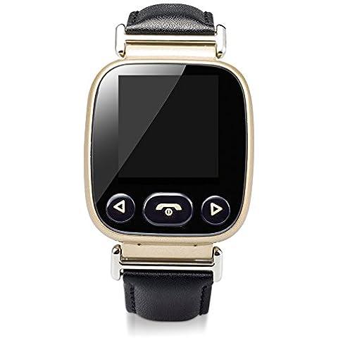 Rubility®Reloj elegante del Viejo Hombre monitor del ritmo cardíaco rastreador de ejercicios Teléfono Hablar podómetro para mayores