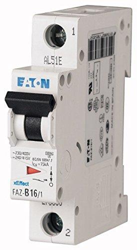 EATON FAZ-B1/1 Interruptor Automático Magnetotérmico FAZ, 1A, 1P, Curva B, Caja de...