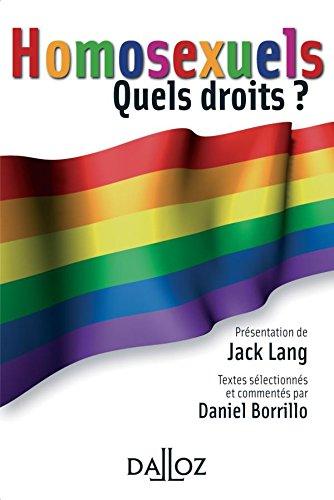 Homosexuels. Quels droits ? par Jack Lang