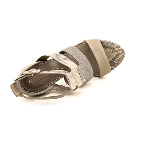 BCBG Max Azria Nory Damen Leder Sandale Grey