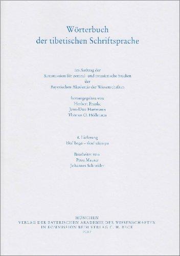 Wrterbuch der tibetischen Schriftsprache 4. Lieferung: bka bsgo - skad san pa