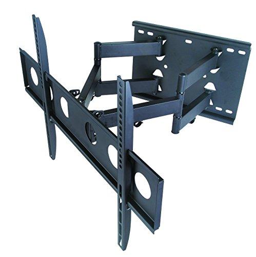 Soporte de pared giratorio para televisor de 32 a 70 pulgadas, LCD, LED, plasma y pantalla plana con VESA 200 x 200, 400 x 400, hasta 600 x 400 mm, montaje en brazo doble articulado con movimiento completo