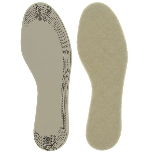 Winter Einlegesohlen Iso Comfort für Schuhe, Obermaterial 100% Wolle - Lammwolle, warm, 1 Paar, Gr. 42 - 47 (Lammwolle Wolle)