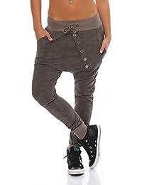 Moda Italy Trendy–Pantalones deportivos para mujer Baggy Boyfriend Ocio Pantalones Pantalones Algodón Sport Pantalón Loose Fit