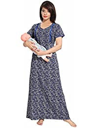 SOULEMO WOMENS FEEDING NIGHTY MATERNITY DRESS. MICRO POLY-VISCOSE FABRIC with no shrinkage & no colour fading problem at all. 673