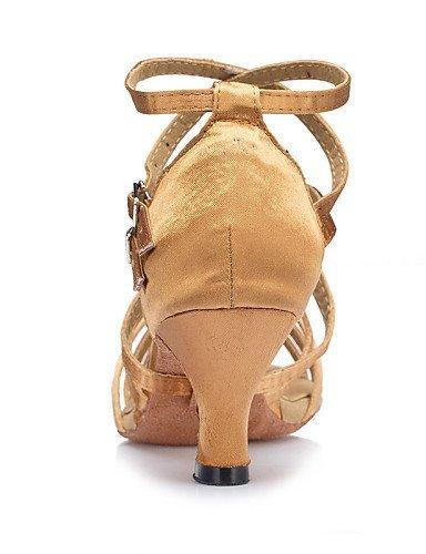 ShangYi Chaussures de danse ( Noir / Jaune / Vert ) - Personnalisables - Talon Personnalisé - Satin - Latine / Salsa / Samba Yellow