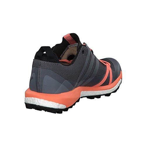adidas TERREX Agravic GTX W Scarpa trail running gris/blanc/orange pastel