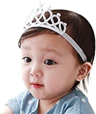 Ziory Silver Color Headbands with Tiaras Crowns Princess Head Band Photo Props Crown Headband For Baby Boys and Baby Girls.