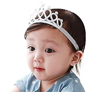 Ziory Silver Color Headbands with Tiaras Crowns Princess Head Band Photo Props Crown Headband For Baby Boys and Baby Girls. Best Online Shopping Store