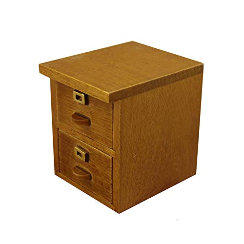 Ocamo Mini Nachttisch Möbel Puppenhaus Spielzeug für 1:12 Puppenhaus -