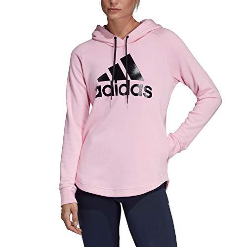 adidas Damen Must Haves Badge of Sport Hooded Sweatshirt, True Pink, m