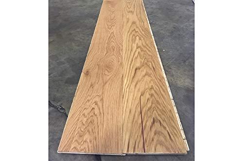 Parquet in legno di rovere europeo, 14 x 180 x 1800 mm, 1 asta, trasparente oliato, spazzolato (1,944 m2/Pak)
