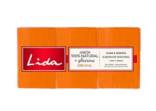 Lida Jabón 100% Natural Glicerina - 3 Unidades