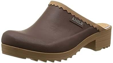 Aigle Victorine Sabot Gummistiefel, Damen Clogs, Braun (brun/n B), 35 EU