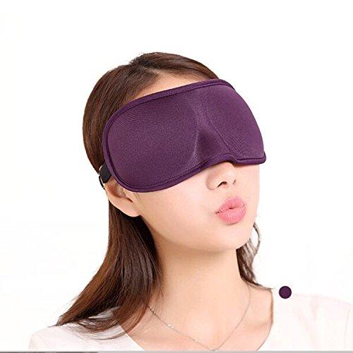 tinxi® 3D Maschera Mascherina Occhi Benda per Notte Riposa Sonni--colore Viola
