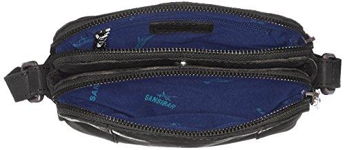 Sansibar - Zip Bag, Borse a tracolla Donna Nero (Black)