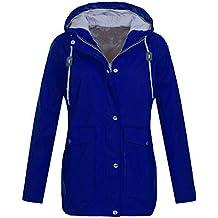 Sudadera con Capucha para Mujer,Mujer Casual Lluvia Sólida Chaquetas al Aire Libre Abrigo Outwear