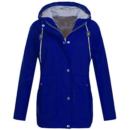 durchsichtige wei e bluse Honestyi Solide Regenjacke Outdoor Plus Jacken Wasserdichte Kapuze Regenmantel Winddicht Männer und Frauen Wasserdichte Sonnenschutz Outdoor Sportswear(Blau,XL)