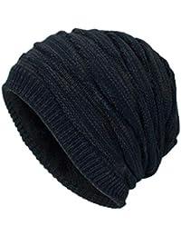 Yying Sombrero de Gorrita Tejida para Hombre Gorro de Lana de Invierno de  Color sólido Sombrero 4fcd320de25