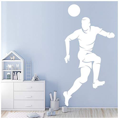 azutura Fußball-Header Wandtattoo Ballsportarten Wand Sticker Jungen Schlafzimmer Haus Dekor verfügbar in 5 Größen und 25 Farben Extraklein Moos Grün