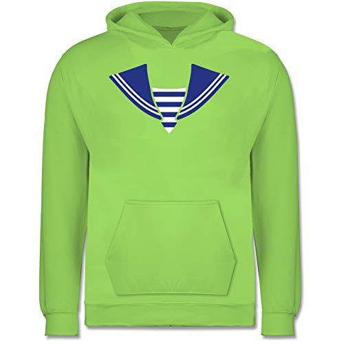 Shirtracer Karneval & Fasching Kinder - Matrose Kostüm Kragen - 12-13 Jahre (152) - Limonengrün - JH001K - Kinder Hoodie