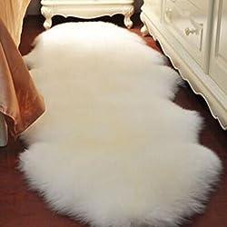 Cojín de lana pura de sofá el cojín entero de alfombra de lana de piel de oveja cojín de ventana flotante salón mantas de dormitorio sala puede ser personalizado ( Color : A3 , Tamaño : 170*75CM )