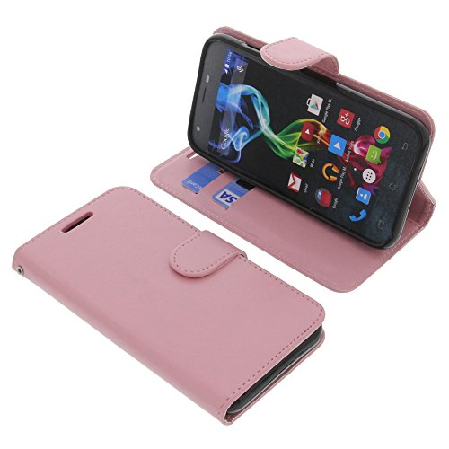 foto-kontor Tasche für Archos 50c Platinum Book Style pink Schutz Hülle Buch