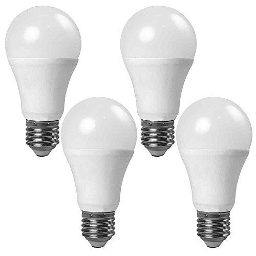 Abdeckung Licht Globe (Granvoo 4-er Pack E27 7W Warmweiß Lichtsensor LED Globe Licht mit Aluminium Legierung + PC-Abdeckung AC 85-265V 7X3030 SMD)