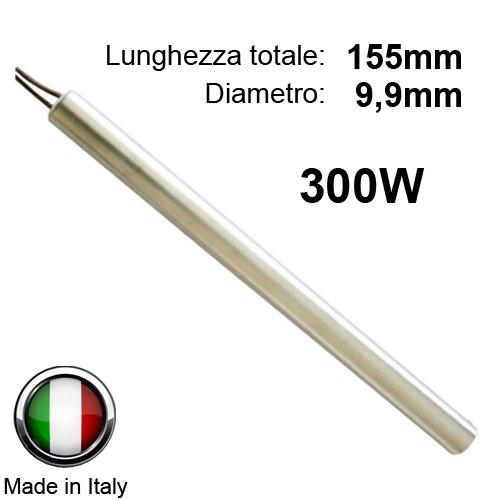 Widerstand Zündkerze Zündung für Pelletofen 300W 155mm; Durchmesser 9,9mm; für Edilkamin