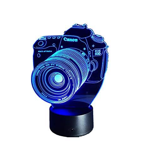 WangZJ 3D Nachtlicht / 3D Illusion Lampe / 7 Farbwechsel Dekor Lampe/Wohnzimmer Bett Zimmer Bar Beste Geschenk/Spielzeug/Kamera - Stil Kinder Panel-bett