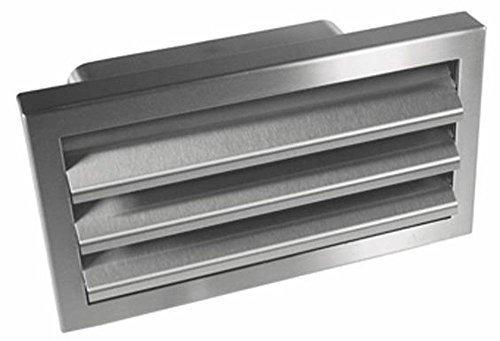 Grille extérieure Acier inox Puissance Téléphérique Canal plat 230x80mm avec Clapet anti refoulement