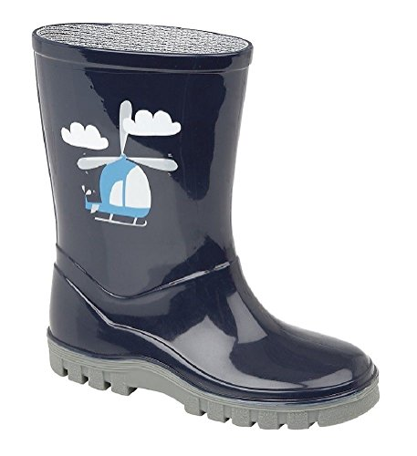 Stormwells Boys Girls Childrens Kids Infants Navy Blue Wellington Wellies Boots Size UK 3-12