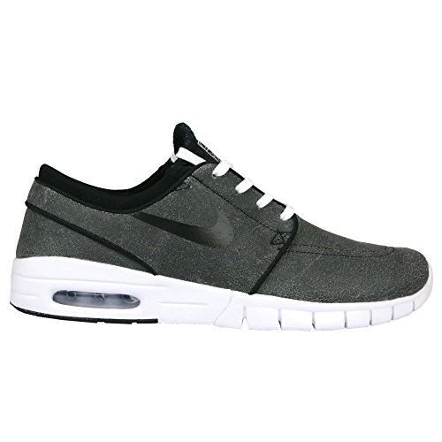 Nike Herren Stefan Janoski Max L Prm Skaterschuhe, Black (Schwarz / Schwarz-Weiß-Wolf Grau), 45 1/2 EU