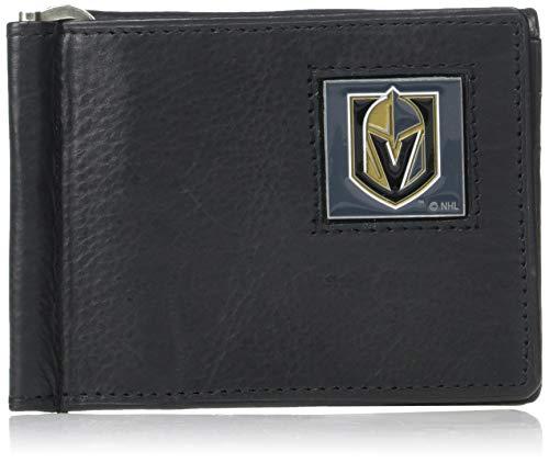 Bill Wallet (Siskiyou NHL Vegas Golden Knights Herren Leder Bill Clip Wallet, Falttür)