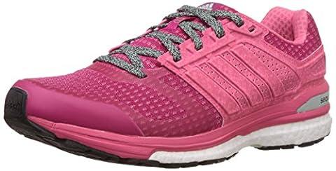 adidas , Damen Laufschuhe Pink rose, Pink (Bold Pink/Super Pink/Frozen Green), 38.2/3 EU (5.5 UK)