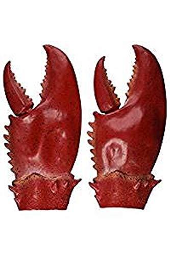 NANLAI Lobster Claws Fancy Dress Gloves Latex Erwachsene Größe Krabbe Zangen Crustacean unter dem Meer Strand Kostüm - Lobster Claws Kostüm