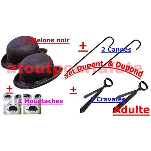 www.atoutpourlafete.fr Set de Deguisement Dupont et Dupond