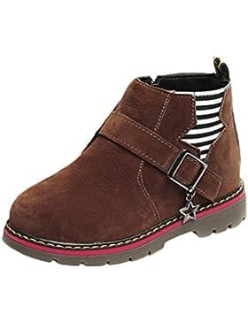 FEITONG Kinder Stiefel, Mädchen Martin Stiefel Warme Schuhe Anti-Slip Boots, Größe 21~30, mit Stern Dekor