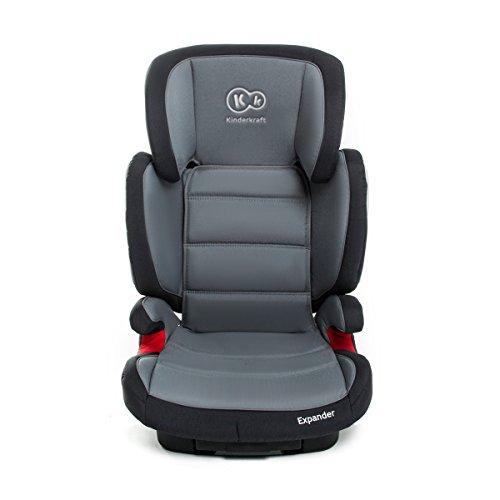 Kinderkraft Expander Kinderautositz Autokindersitz Kindersitz mit Isofix 15 bis 36 kg Gruppe 2 3 Grau