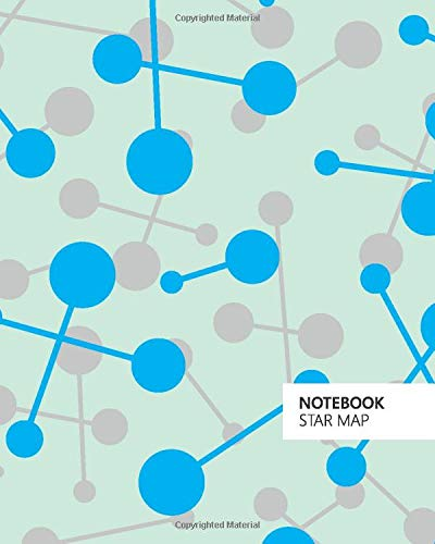 Notebook Star Map: (Mint Edition) Fun notebook 192 ruled/lined pages (8x10 inches / 20.3x25.4 cm / Large Jotter)
