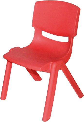 Bieco 04000005 – Kinderstuhl aus Kunststoff, stapelbar, ca. 53 x 33 x 28 cm rot