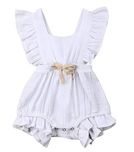 (Aoweika 3-24 Monat Kleinkind Baby Mädchen Outfits Einfarbig Strampler Ärmellos Spielanzug Baby Toddler Kinder Strampler Baby Neugeborenes Kinderkleidung)