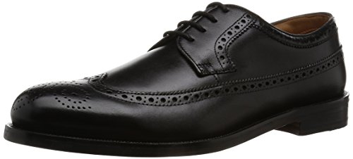 Clarks Herren Coling Limit Derby, Schwarz (Black Leather), 43 EU (Schuhe Casual Clark)