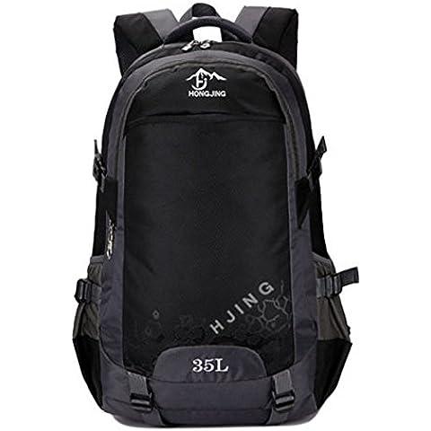 D.jiani® bolsa de piel plegable ultra-portátil al aire libre los hombres y las mujeres viajan bolsos de montaña del recorrido impermeable mochila