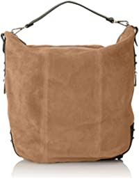CTM Womans backpack bag, italian genuine suede leather made in Italy 39x37x3 Cm Chicca Tutto Moda