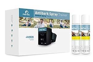 PetTec Antibell Spray Trainer Pro Erziehungshalsband mit automatischer Sprühfunktion inkl. Antibell Spray (citronella) + 1 Gratisspray